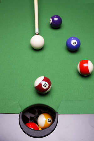 Billiard table hole photo