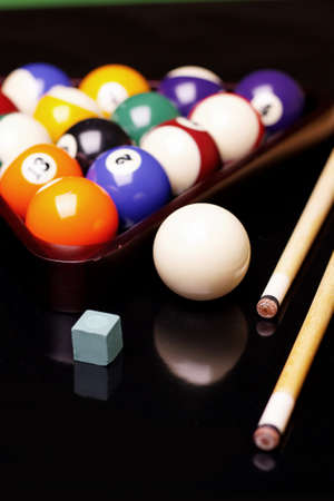Billiard balls on green table! Stock Photo - 8700558