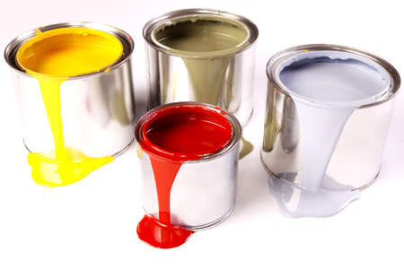 painting and decorating: Spilling paint!