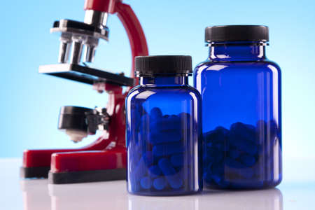supplements: Nutrition science for sports men  Stock Photo