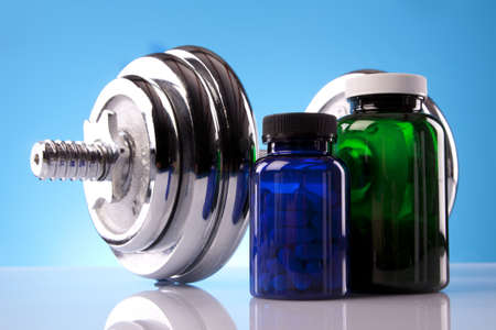 nutritional supplement: Fitness concept Stock Photo