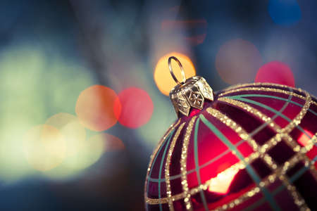 Christmas Decoration, baubles and gifts! Stock Photo