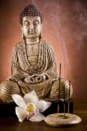 Boeddha close-up, religie begrip Stockfoto