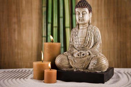 Buddha closeup, concetto di religione Archivio Fotografico