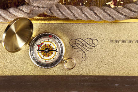 navigate: Vintage navitagion equipment, letter and maps