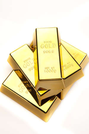 gold bars, studio shots, closeup Stock Photo - 13566887