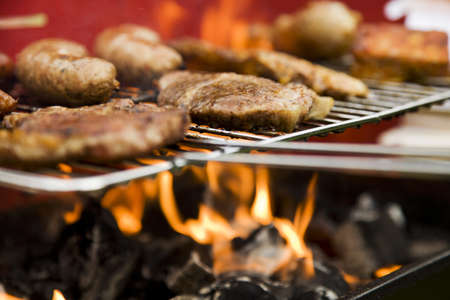 Barbeque in the garden, really tasty dinner  Stock Photo - 13803708
