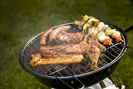 Barbeque in the garden, really tasty dinner