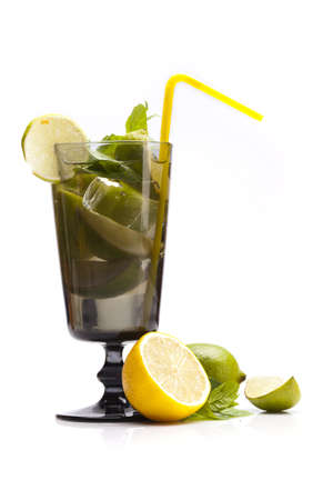 Perfect Mojito drink isolated on white background photo