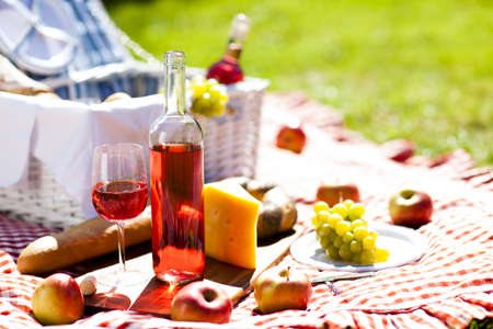 Picnic Time  Backer with food in garden Stock Photo - 15245347