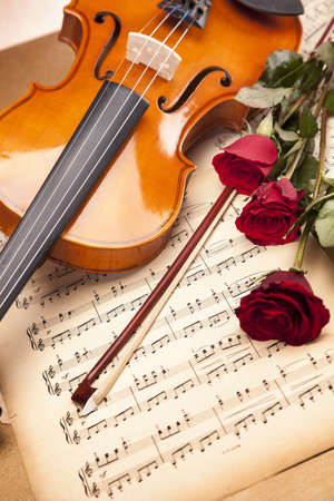 Violin, music, love and extasy  Everything for valentines photo