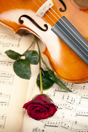 Violin, music, love and extasy! Everything for valentines photo