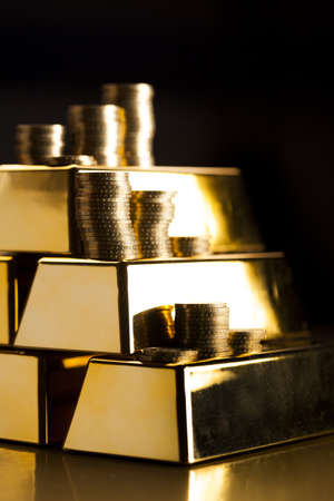 gold bars: Gold bars  Financial and money concept Stock Photo