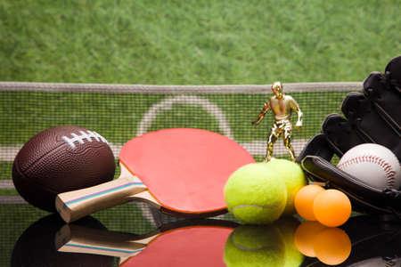 baseball stuff: Sport equipment Stock Photo