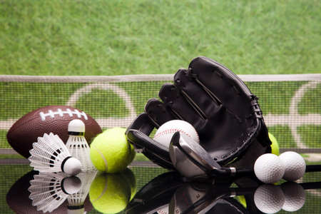 Sport theme  Balls, and other sport equipment Stock Photo - 22022572