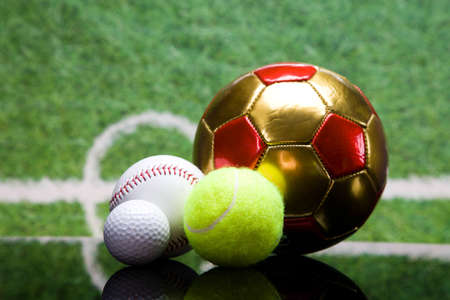 baseball stuff: Sport theme  Balls, and other sport equipment  Stock Photo