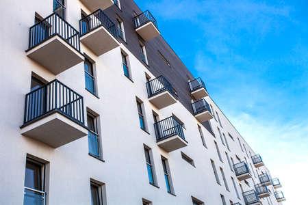 residental: Residental Building on sky background  Exterior