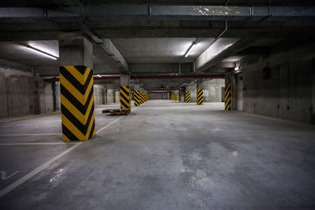Underground garage. interior shots
