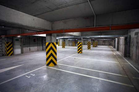 Underground garage. interior shots