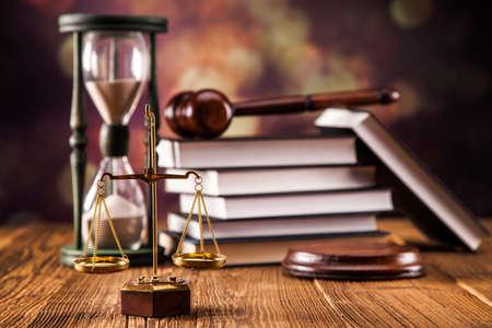 말렛, 법적 코드 및 정의의 비늘. 법률 개념, 스튜디오 촬영