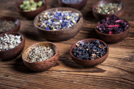japanese tea garden: The ancient Chinese medicine, herbs and infusions
