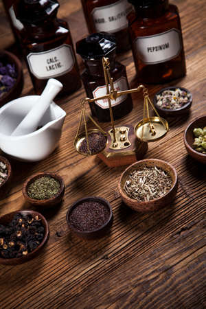 bewitch: The ancient natural medicine, herbs and medicines Stock Photo