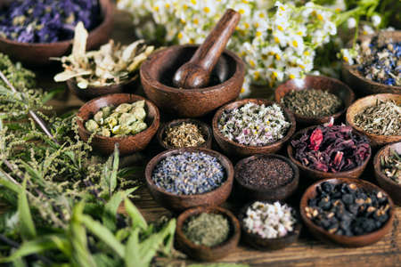 health and medicine: The ancient Chinese medicine, herbs and infusions