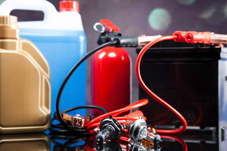 Essential elements in any car. Bulbs, fluids and battery! photo
