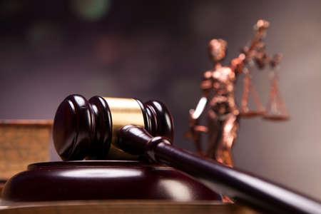 Mallet van gerechtigheid! Stockfoto