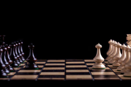 Chess pieces showing competition in business and sport Stock Photo