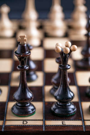bishop: Chess pieces showing competition in business and sport Stock Photo