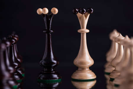 bishop chess piece: Chess pieces showing competition in business and sport Stock Photo
