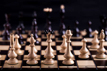 bishop: Chess pieces showing the competition, in business and game