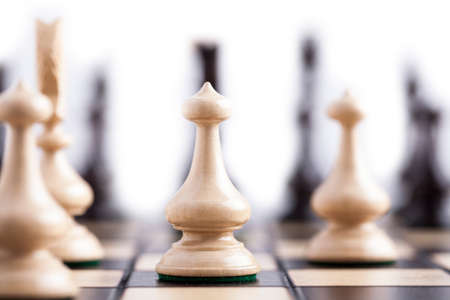bishop chess piece: Chess pieces showing the competition, in business and game