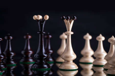 tactic: Chess pieces showing the competition, in business and game