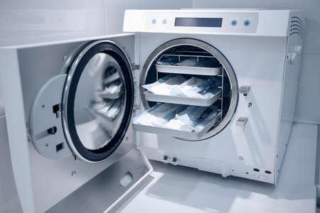 medical occupation: machine for sterilizing medical equipment