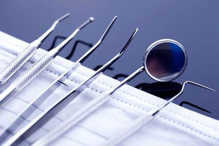 dental tools: Professional dental tools in a sterile medical light