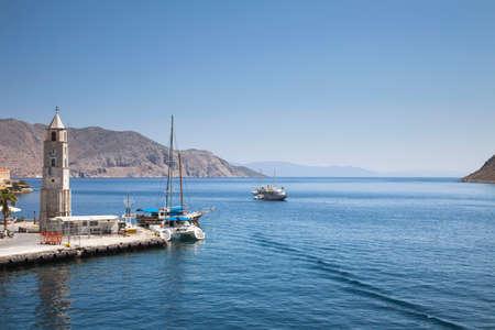 greek islands: Beautiful city of Symi in the archipelago Greek islands.