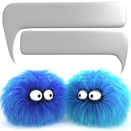 Two Furbul CG characters having a conversation