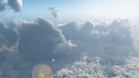 Computer generated image of Cloud tops Stock Photo
