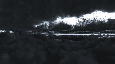 Computer generated image of storm clouds