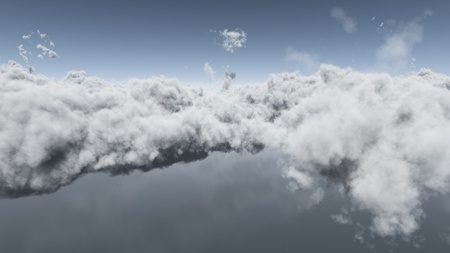 Computer generated image of a weather front