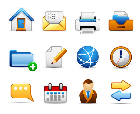 threshold: Set of icons on an office theme.