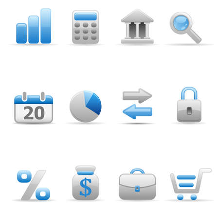 Set of icons on a theme the finance. Illustration