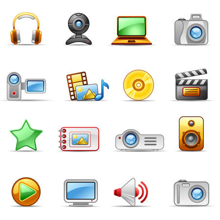 Set of icons on a theme and Video Stock Vector - 5235485