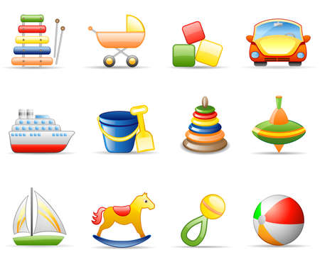 Icons set on a theme Toys