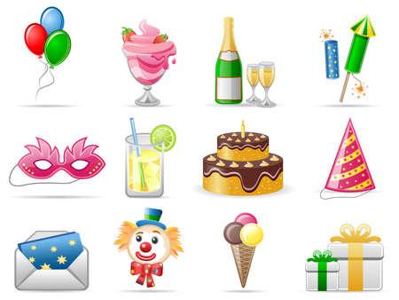 Birthday  Icon set Stock Vector - 6060574