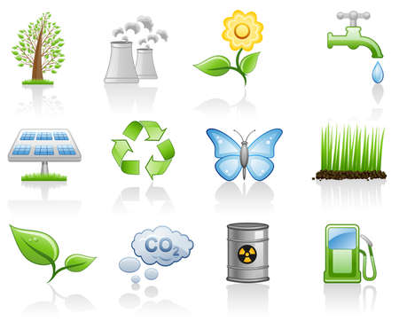 Environment icon set  Illustration