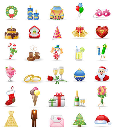 Holidays  icon set Stock Vector - 6533209