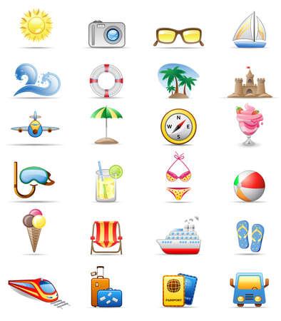 steamship: Vakantie pictogram serie Stock Illustratie